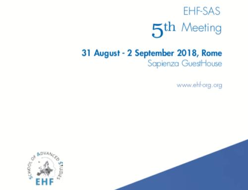 EHF-SAS 5th Meeting – 31 August – 2 September 2018, Rome